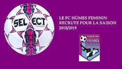 Le FC HÛMES féminin recrute