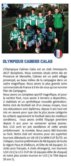 OLYMPIQUE CABRIES CALAS