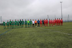 Nos U17 se sont inclinés d un petit but face a Nimes Olympique en coupe de l occitanie . - FOOTBALL CLUB LESPIGNAN VENDRES