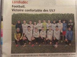 U17  à  l'honneur - GROUPEMENT JEUNES BIGOUDENS