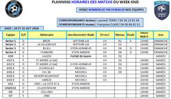 PLANNING WEEK-END 20-21 Octobre - MOS3R FOOTBALL CLUB