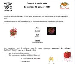 RCMURET: REPAS DU CLUB DE LA NOUVELLE ANNEE 2019 (05/01/2019)