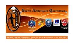 Reprise pour nos jeunes joueurs ! - Sports Athletiques Quercitains