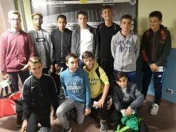 Nos U 15 en visite au SCO pour le Match SCO-Toulouse