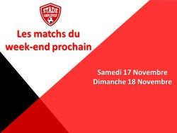 Les matchs des 17 et 18 Novembre