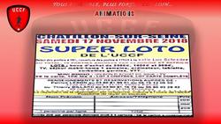 Super Loto 17/11/2018 - UNION CHATILLONNAISE COLOMBINE FOOTBALL