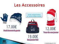 Errea pack bonnet & gants