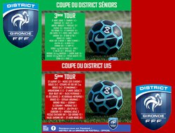 Prochains matchs Coupe du District ....