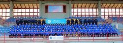 Bonjour à tous, cet après midi lors de la remise officielle des tenues des plus jeunes (U6 à U13), c'était l'occasion de faire enfin les photos officielles de ces équipes. - U.S. Issoire Football