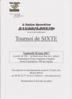 TOURNOI DE SIXTE