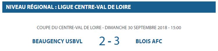 COUPE DU CENTRE-VAL DE LOIRE: Victoire de l'AFC