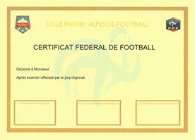 Certificat CFF