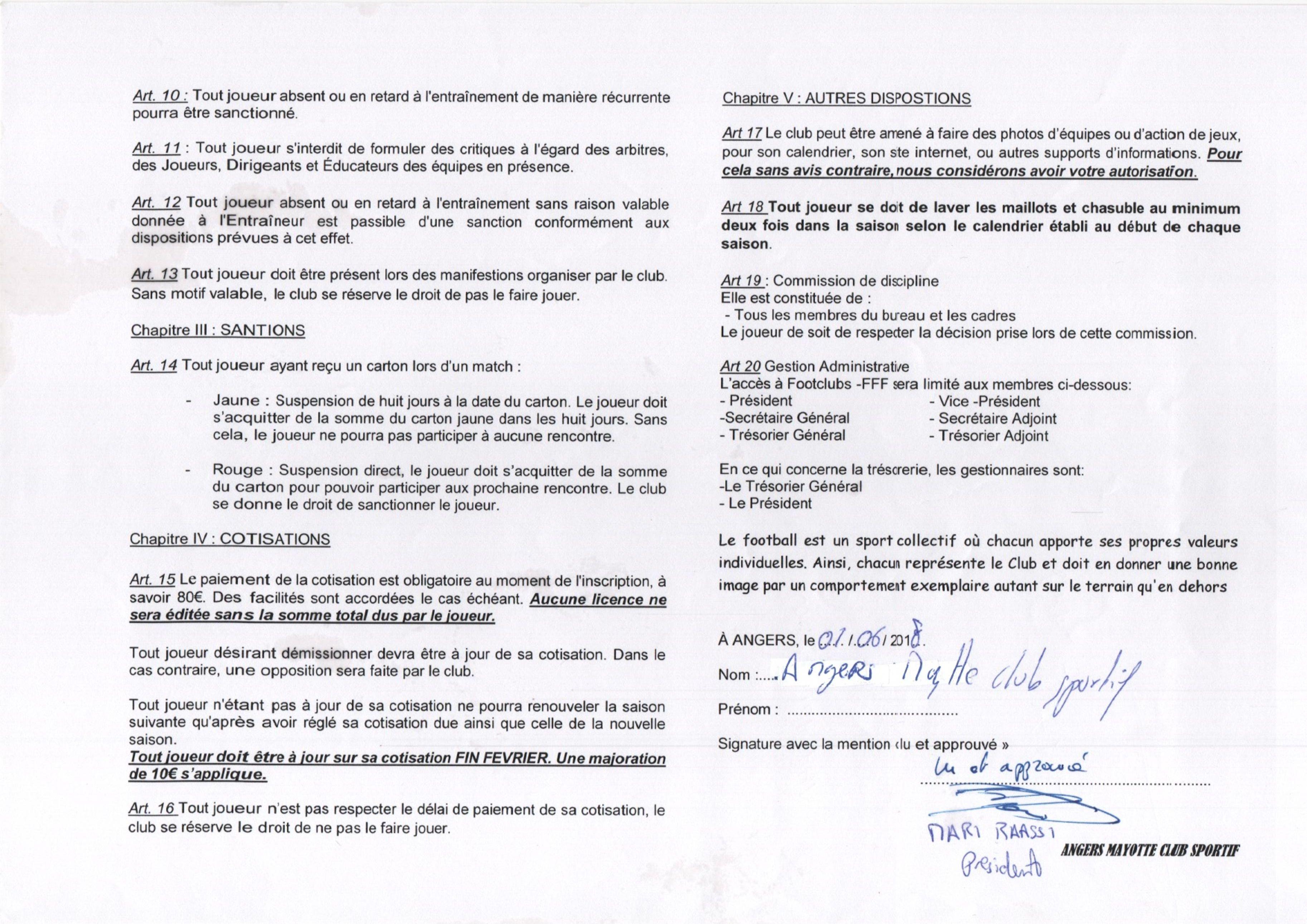Règlement intérieur page 2