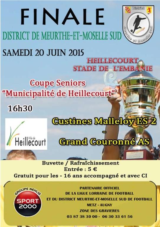 Affiche finale coupe district