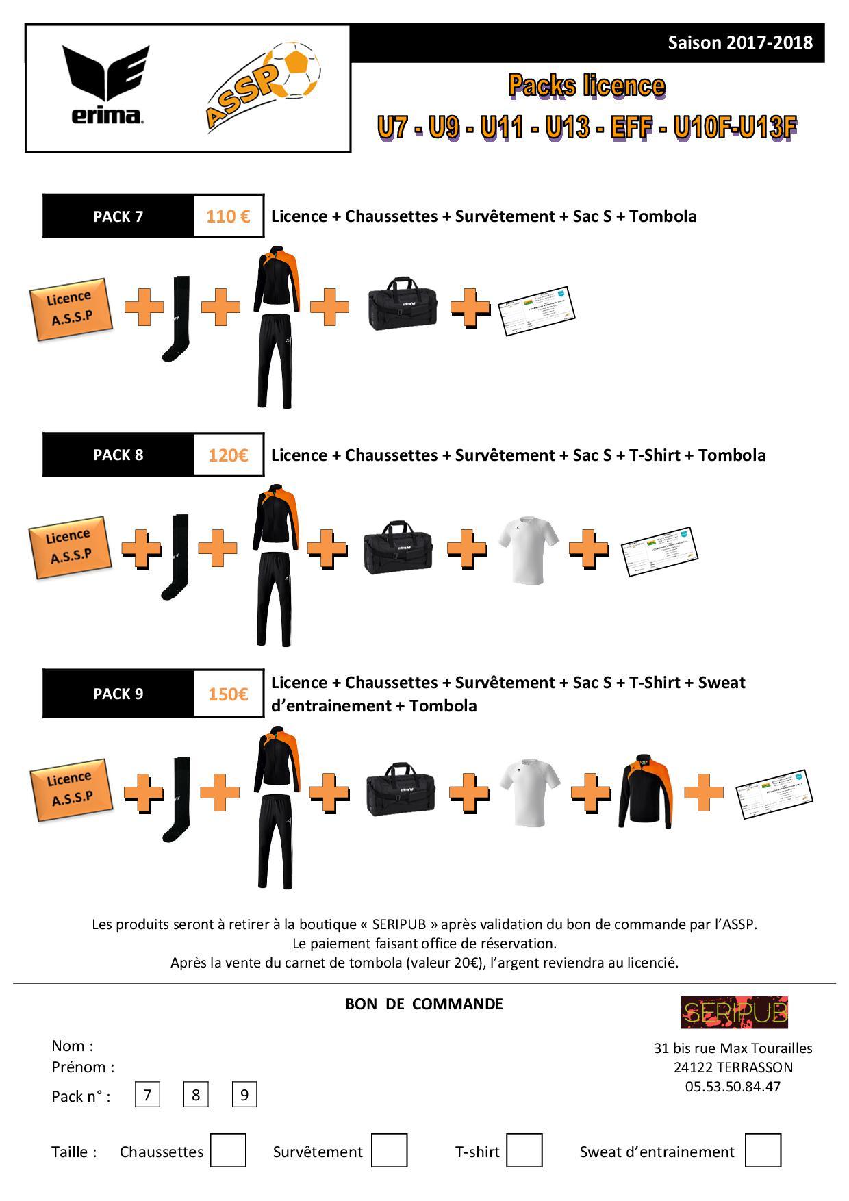 Packs licence U7 U9 U11 U13 EFF U10F-U13F.jpg