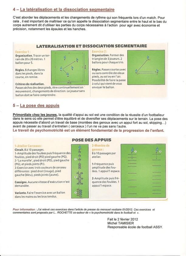 Exercices de psychomotricité U7 à U11 - club Football amicale sportive de Saint-Yrieix - Footeo