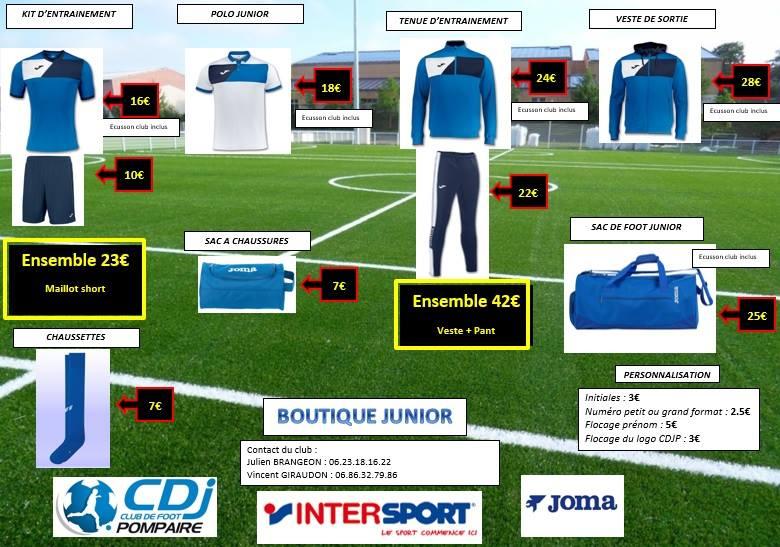 Boutique Juniors 2017/2018