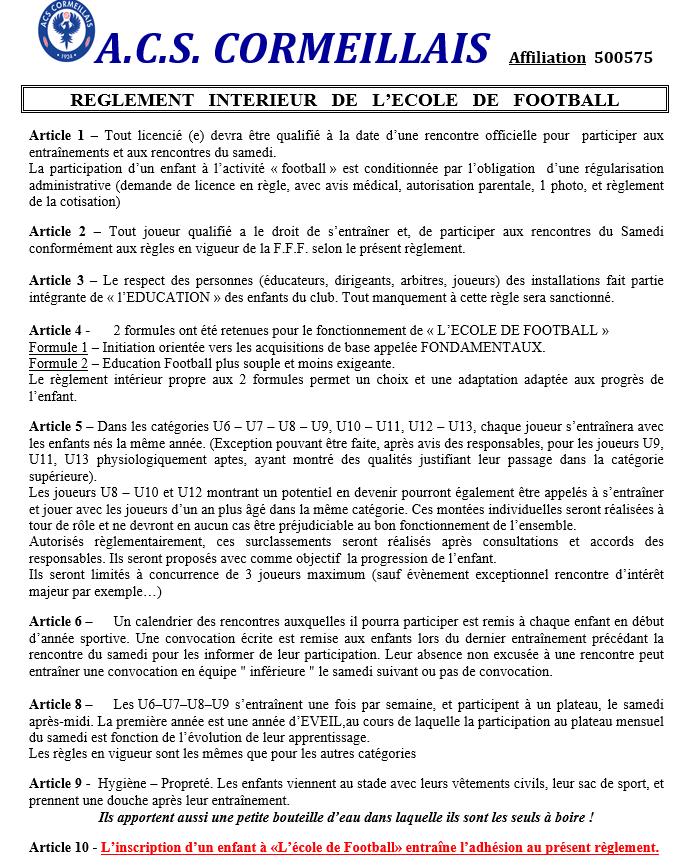 REGLEMENT ECOLE DE FOOTBALL.PNG