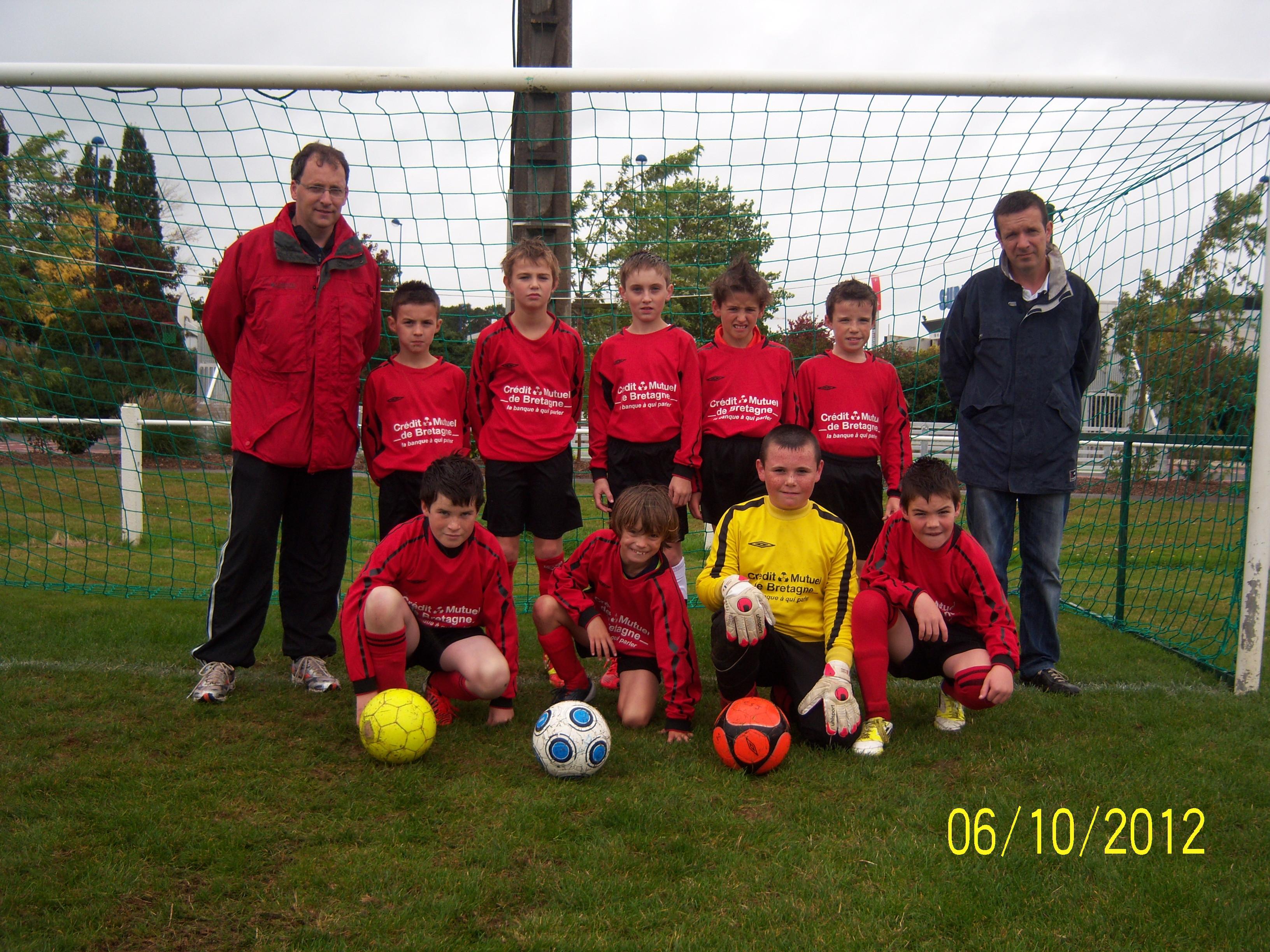 Équipe U11 B Jaune de l'école de football du C.S. JOSSELINAIS - saison de football 2012/2013