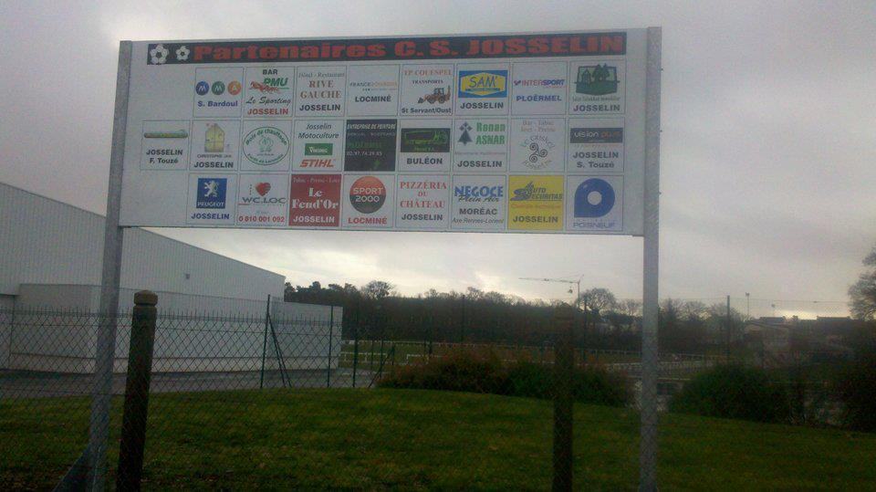 Grand panneau des sponsors officiels du C.S.J.