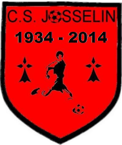 Logo officiel des 80 ans du club de football amateur du C.S. JOSSELINAIS
