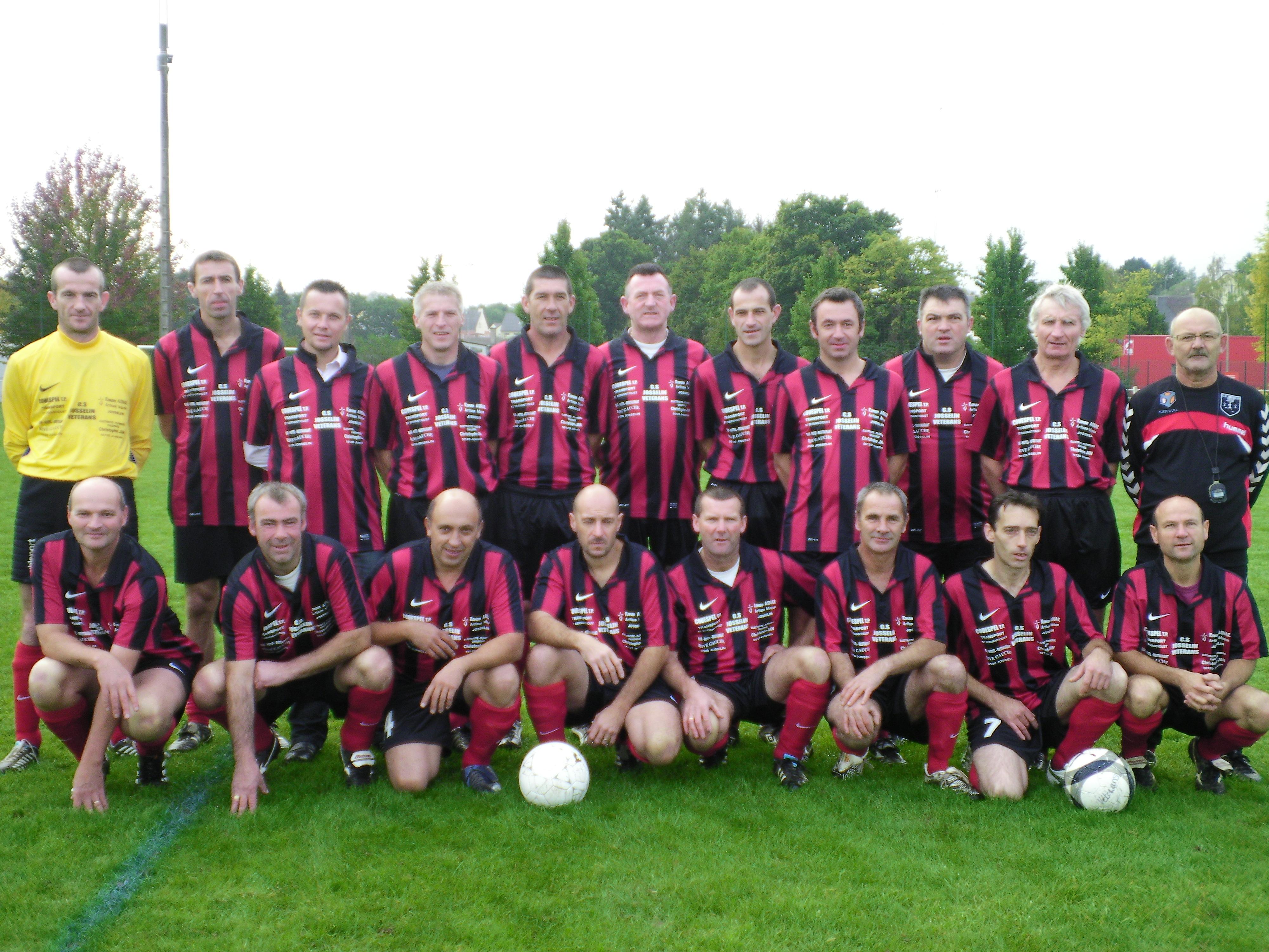 Équipe des vétérans du C.S. JOSSELINAIS - saison de football 2012-2013
