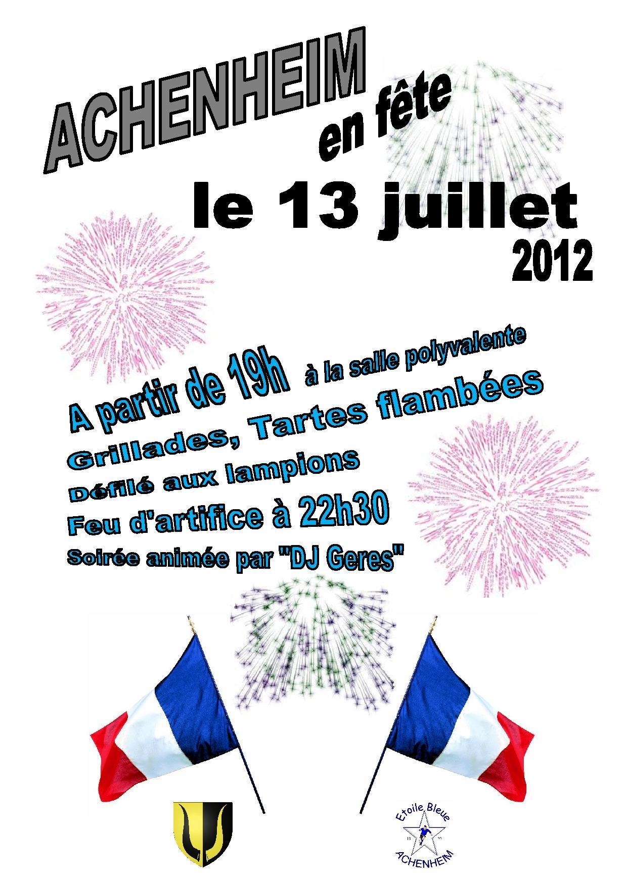 Affiche 13 juillet 2012