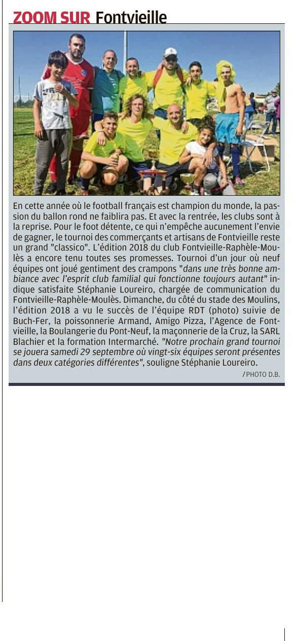 article tournois des commercants