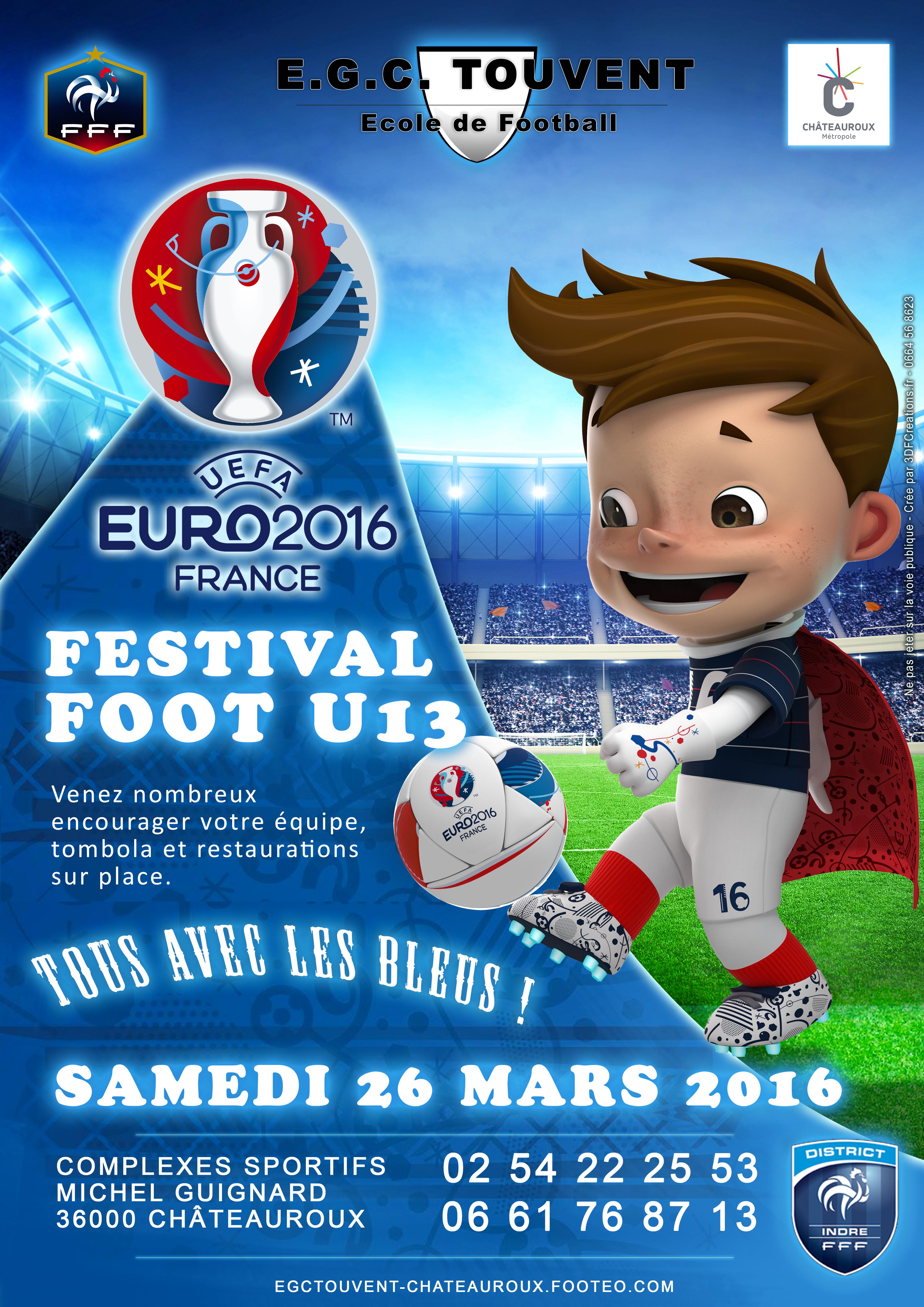 Affiche euro Festical U13 Touvent