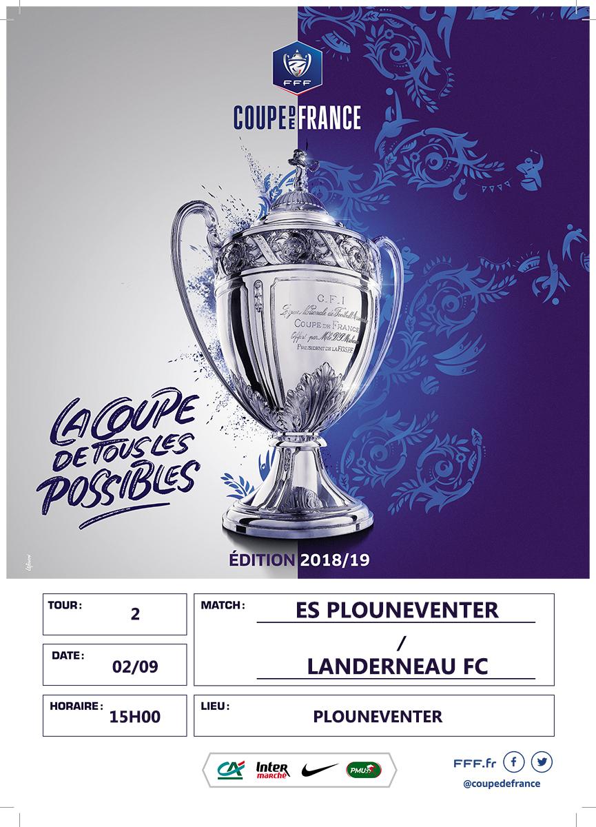 2nd tour de la Coupe de France : ES Plounéventer (D1) - Landerneau FC (R2)