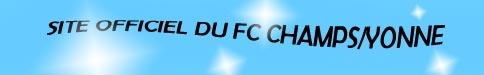 FC CHAMPS/YONNE : site officiel du club de foot de CHAMPS SUR YONNE - footeo