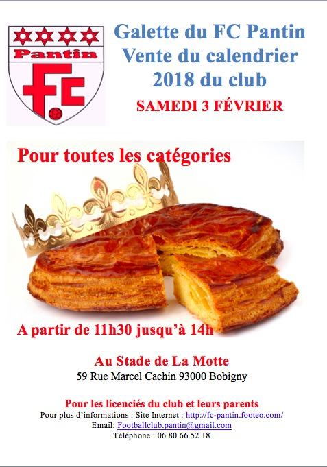 Galette Calendrier FC Pantin 2018.jpg