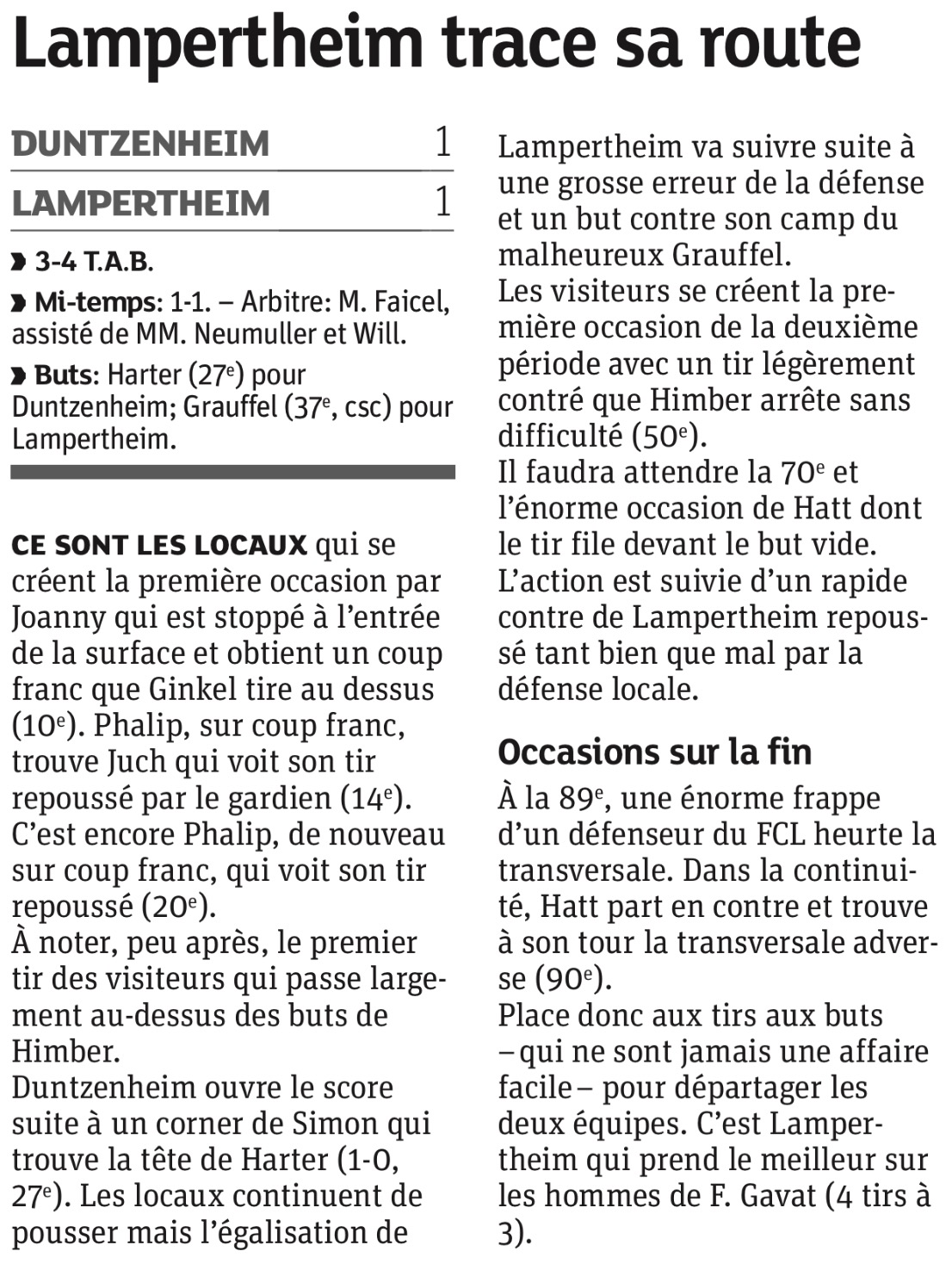 DNA du jour - Lampertheim trace se route