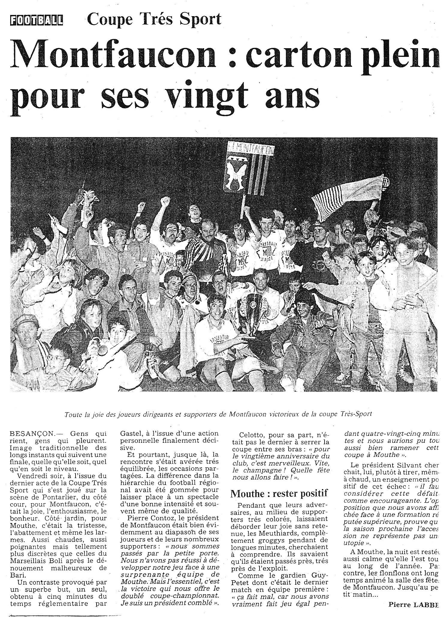 06/1991 - Montfaucon : Carton plein pour ses 20 ans