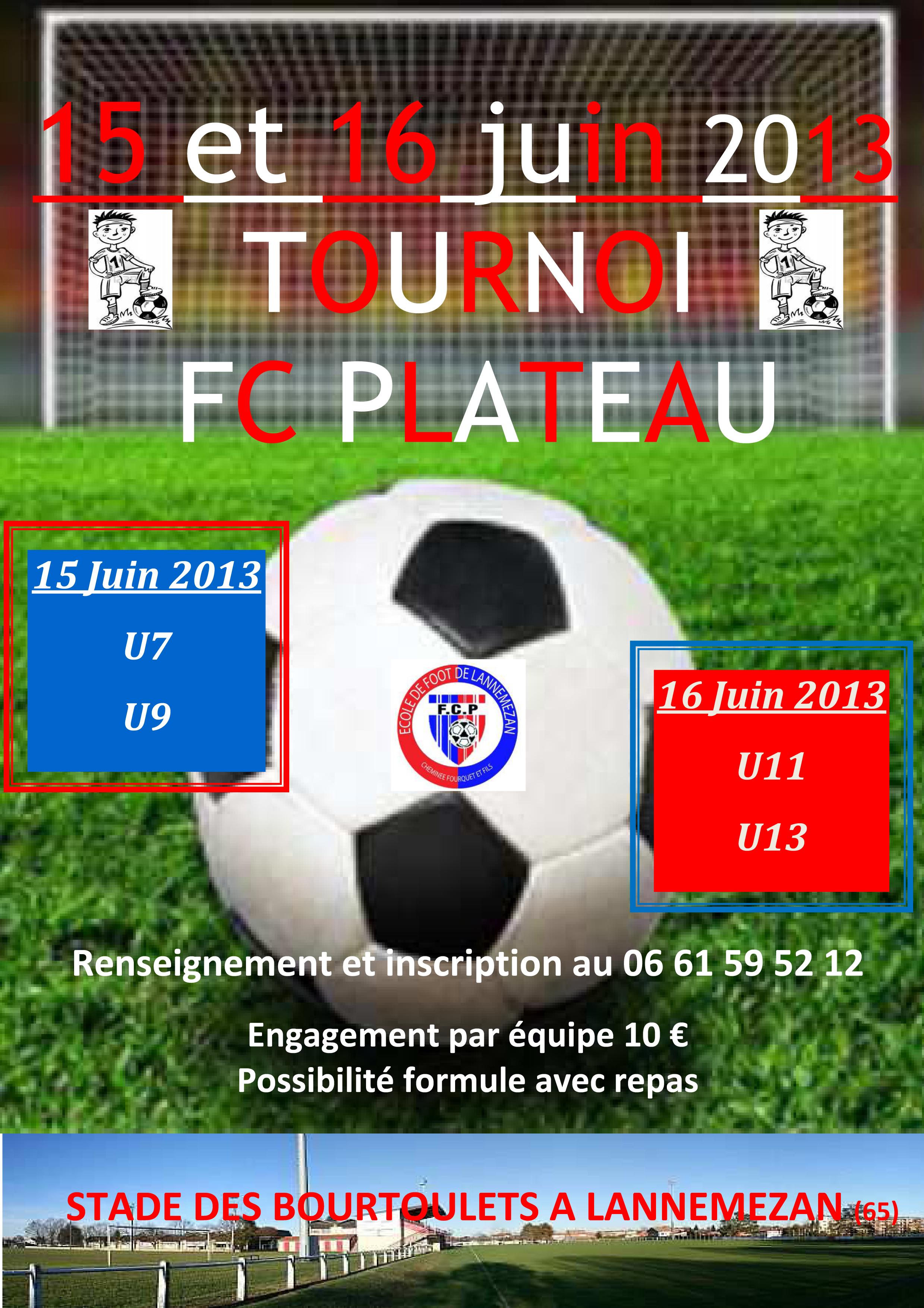 TOURNOI du FC Plateau