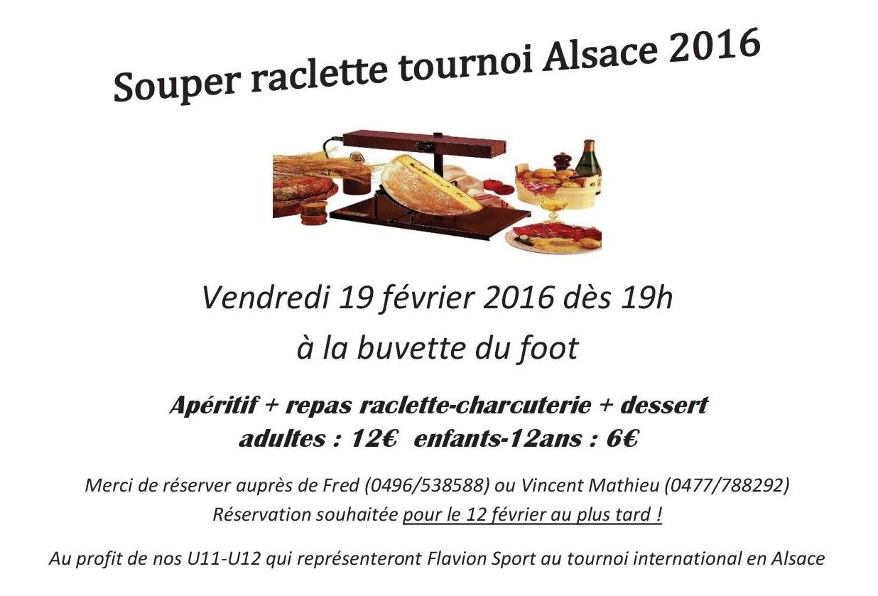 Souper raclette Alsace 2016