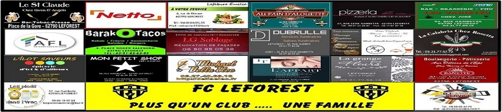 F.C. LEFOREST : site officiel du club de foot de LEFOREST - footeo
