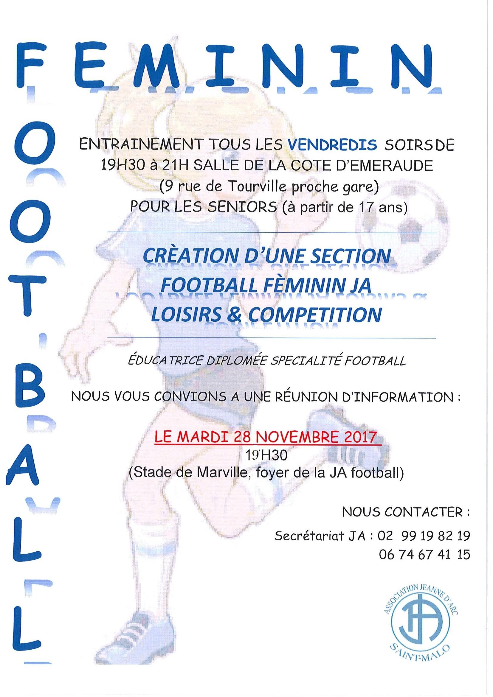 Création Football senior Féminine Loisir & Compétition