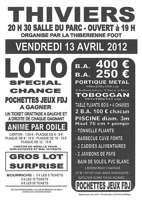 Loto 13 Avril 2012