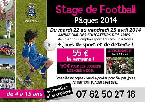Affiche Stage Olympique Novais Pâques 2014