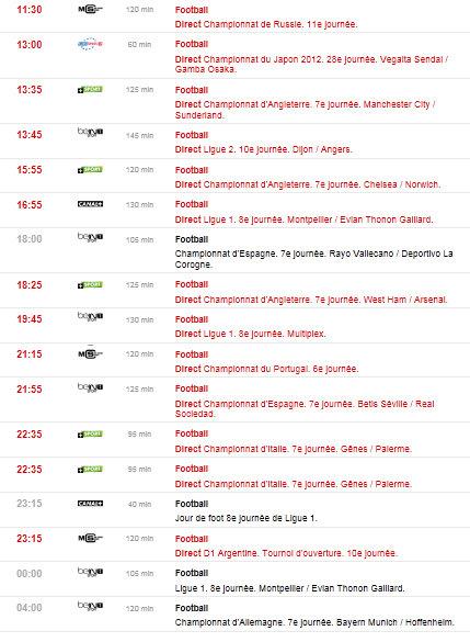 programme tv du 06/10/2012