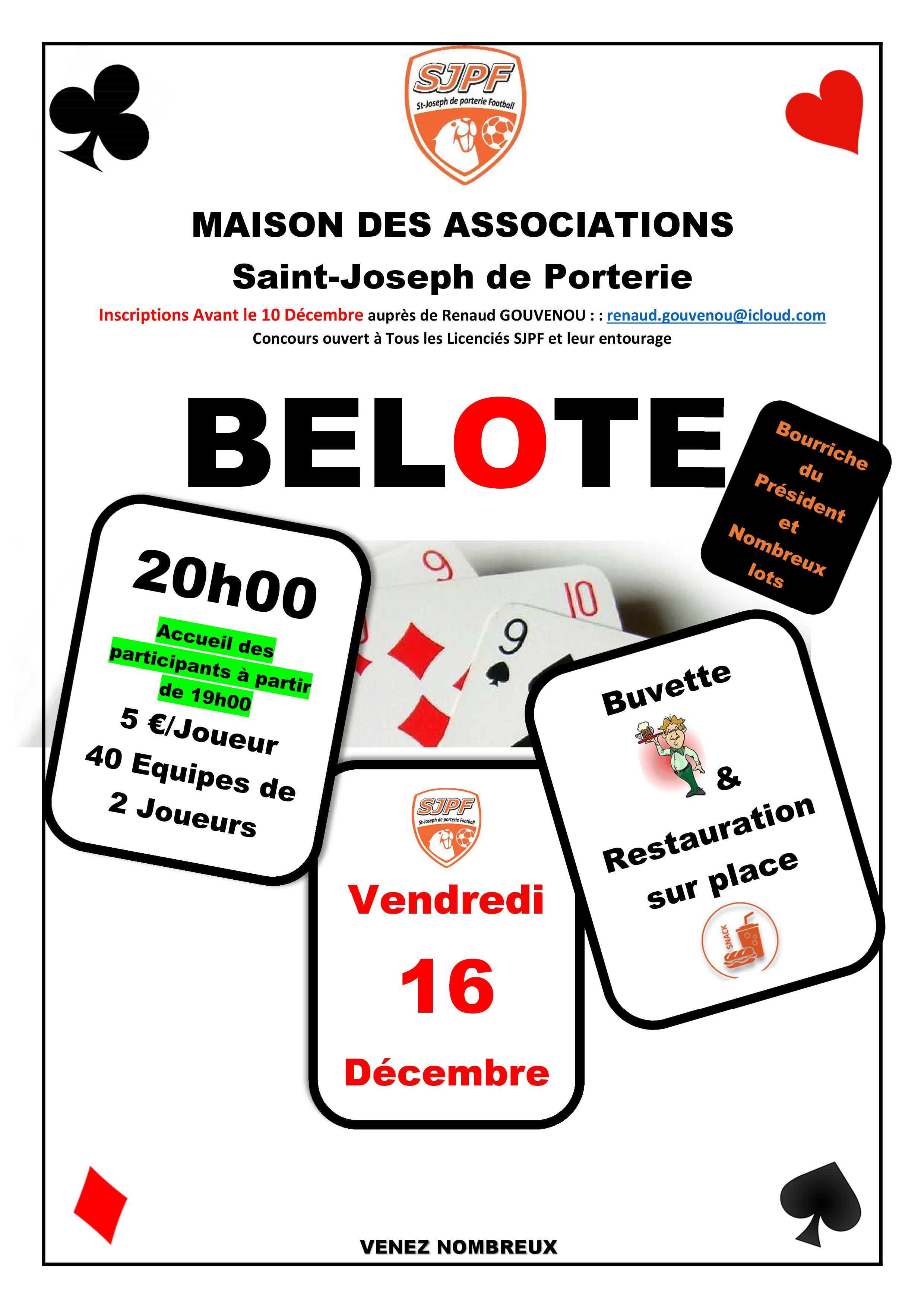 Concours de Belote SJPF 16.12.16
