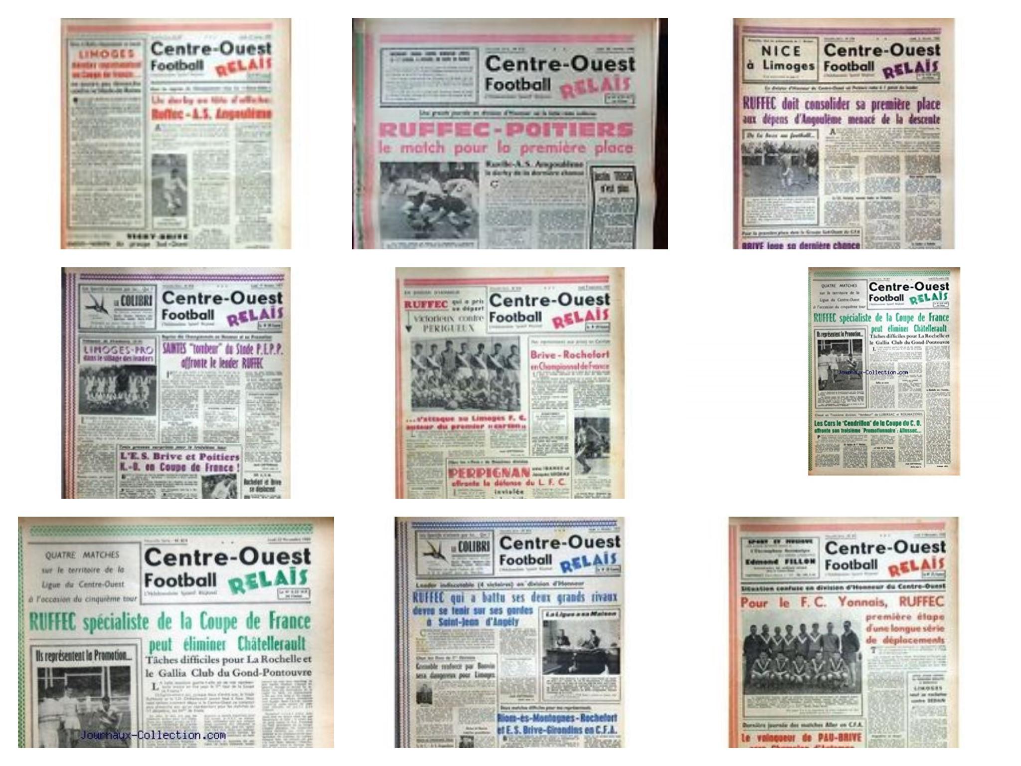 ARCHIVE DE 1957 à 1963 PREMIERE  PAGE ..jpg