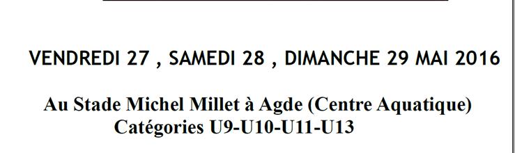 TOURNOI DE L'ARCHIPEL DU RCO AGDE 2016 : site officiel du tournoi de foot de AGDE - footeo