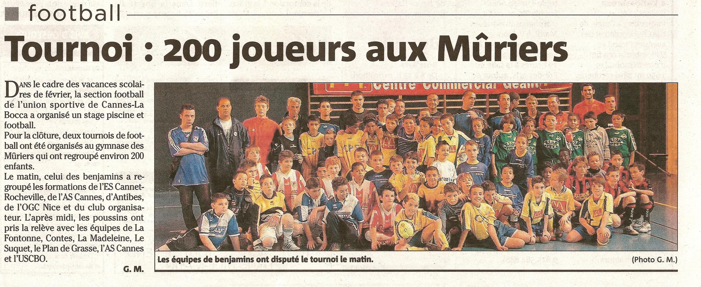 NICE MATIN FEVRIER 2006 - PREMIER TOURNOI FUTSAL JETIX KIDS CUP2