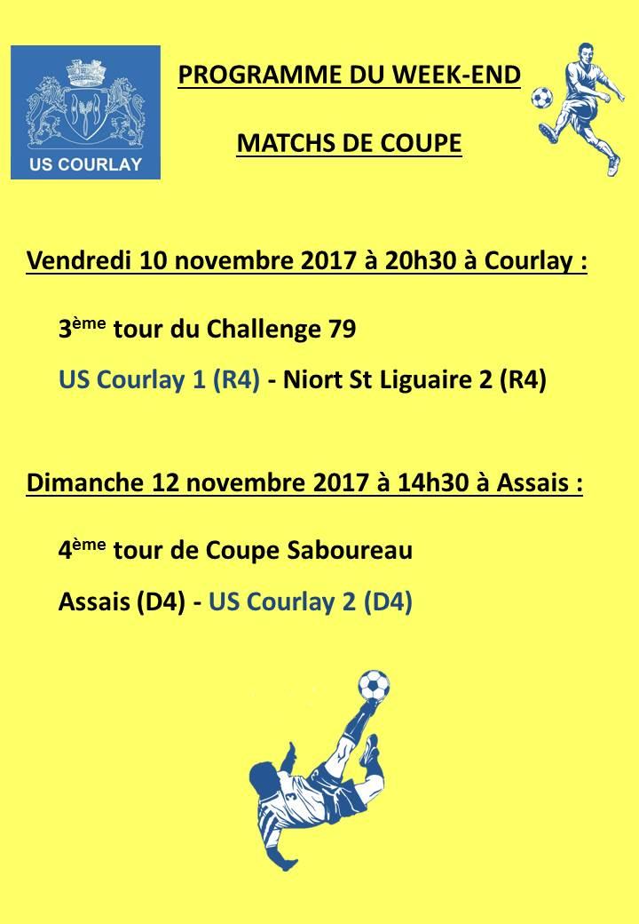 2017_11_09 Matchs_au_programme_du_week_end