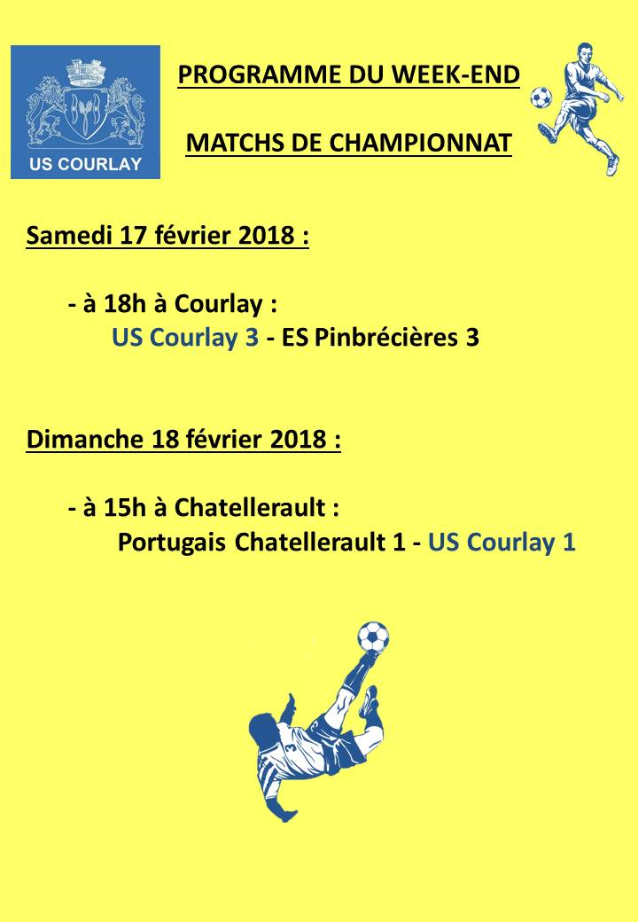2018_02_15 Matchs_au_programme_du_week_end