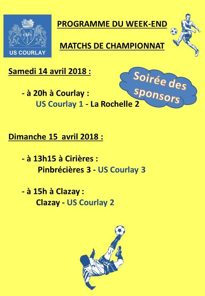 2018_04_12 Matchs_au_programme_du_week_end