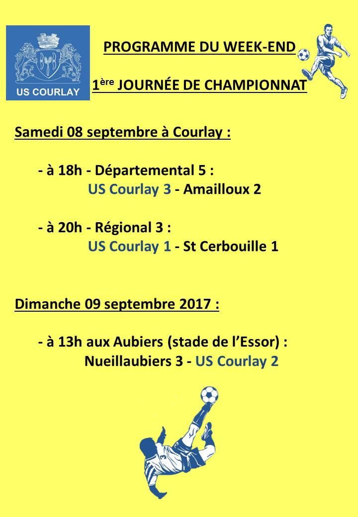 2018_09_07 Matchs_au_programme_du_week_end