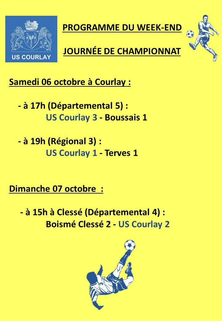 2018_10_04 Matchs_au_programme_du_week_end